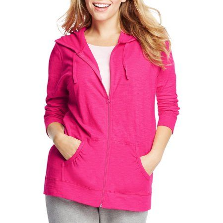 029623bd2ad Just My Size by Hanes Women s Plus Size Slub Jersey Hoodie