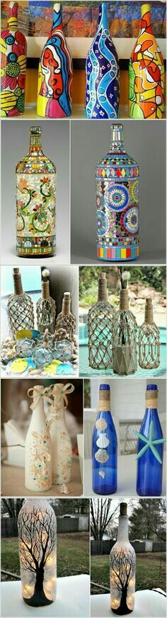 Decorated Plastic Bottles Pinpnina Perelmuter On Projects To Try  Pinterest  Bottle