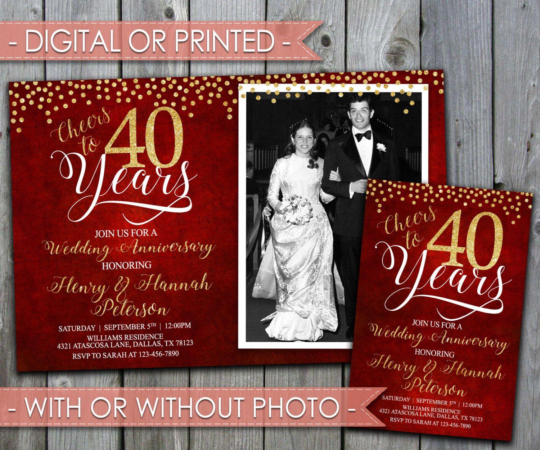 Medium Of 50th Wedding Anniversary Invitations