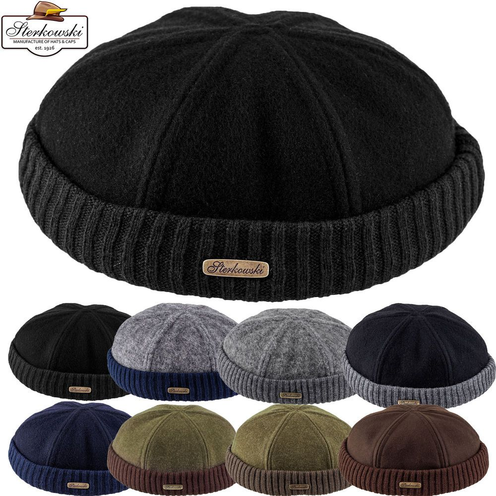 8a8161860a9 Woolen Cloth Navy Watch Cap   Winter Docker Hat Leon Beanie Fisherman  Sailor  Sterkowski  Beanie