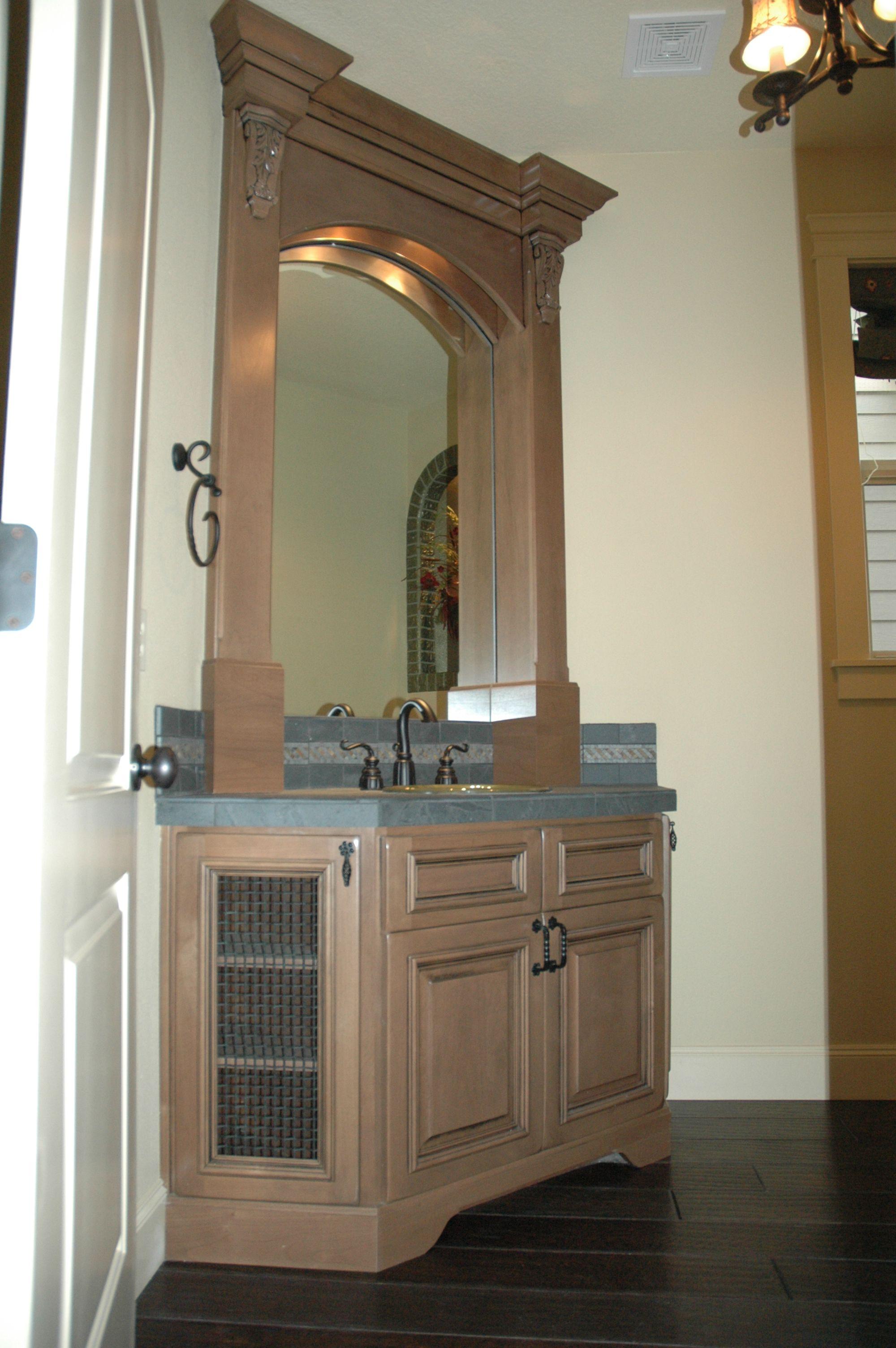 beautiful vanity and mirror framed bathroom mirror on custom bathroom vanity mirrors id=28361