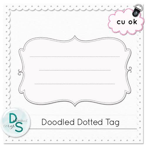 Delicious Scraps: Free Commercial Use Layered Dotted Tag