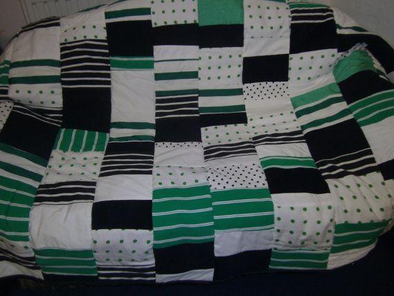 Grun Weisse Patchwork Decke Quilt Decke Grun Schwarz Weiss