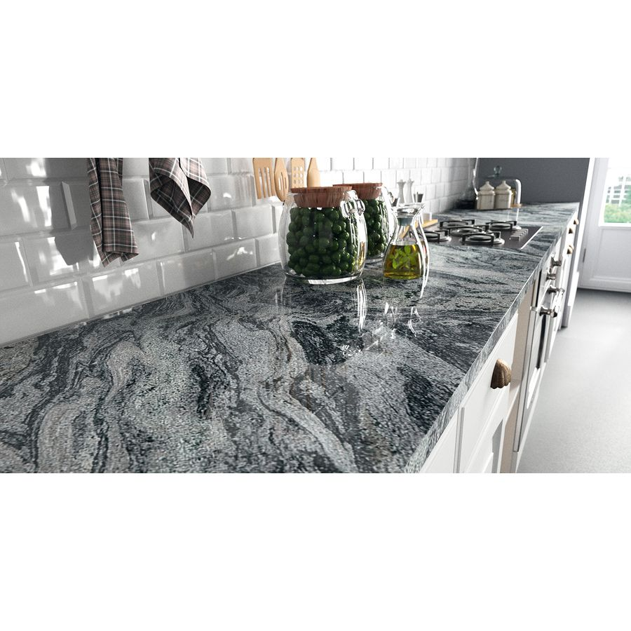 Sensa Verde Aquarius Leather Granite Kitchen Countertop Sample