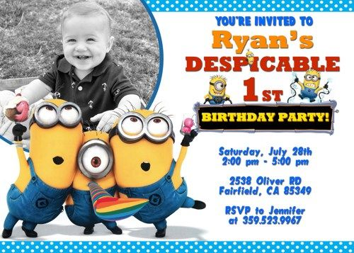 Download Now Updated Bunch Of Minion Birthday Party Invitations Ideas Free Downloadable Minion Birthday Invitations Minion Invitation Minion Birthday