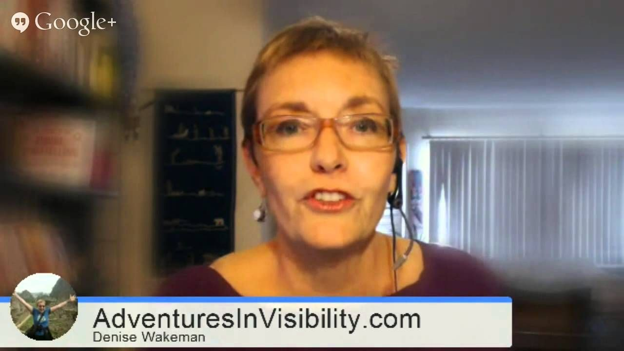 DIYMarketers Masterclass: Denise Wakeman How to Build Your Expert Status... #HOA #onlinevisibility
