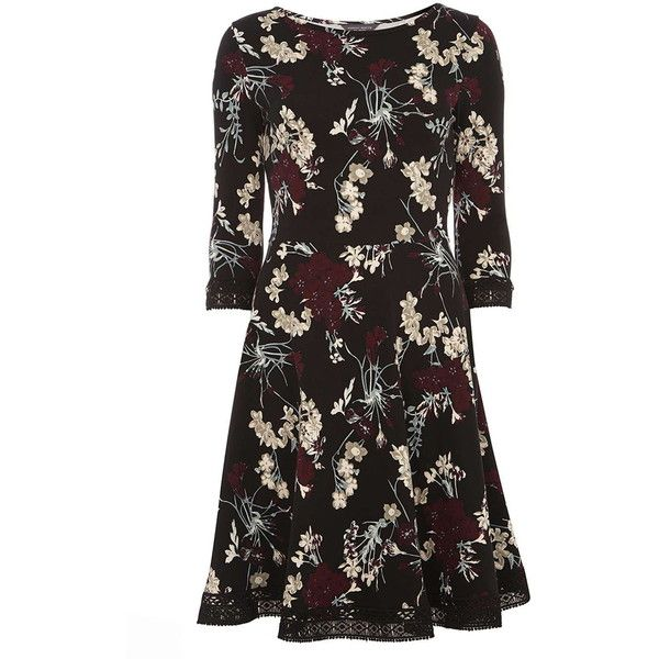 Dorothy Perkins   Tall Black Floral lace dress ( 39) ❤ liked on Polyvore d7cfb6ff3
