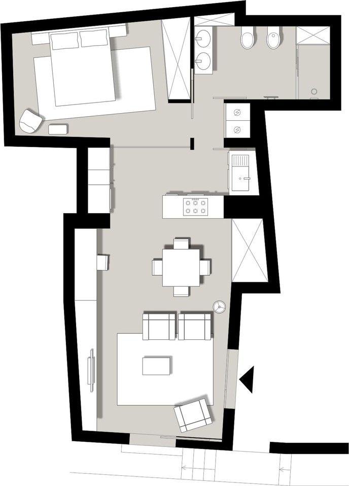 ristrutturazione di un piccolo appartamento pianta