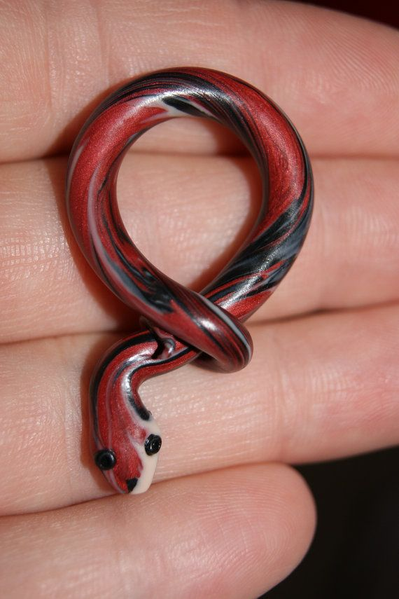 Polymer Clay Snake Pendant