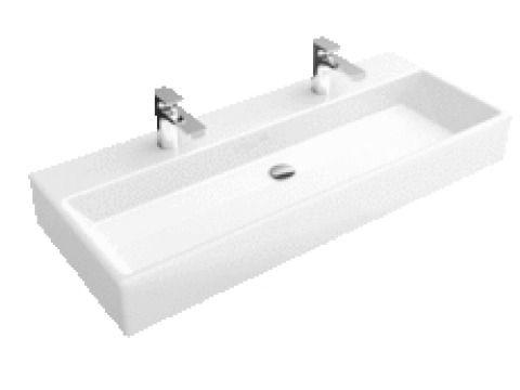 villeroy boch memento double lavabo 120x47cm avec 2 trous pour - Meuble De Salle De Bain Sans Vasque