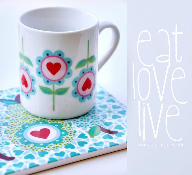 Tasse DAISY LOVE Porzellan in GeschenkBOX