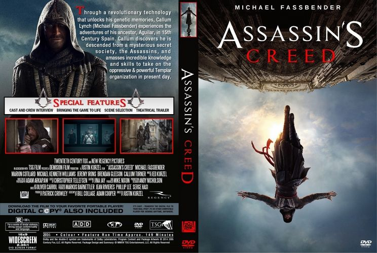 Assassin 039 S Creed 2016 Custom Dvd Cover Custom Dvd Dvd