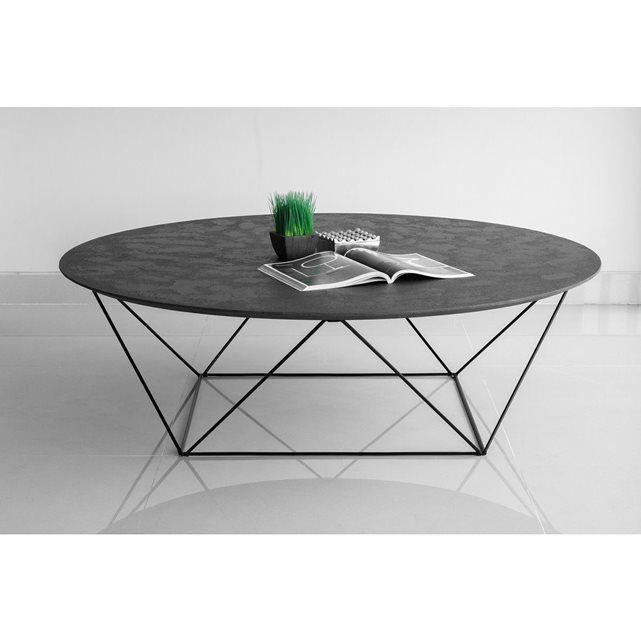 Table Basse En Metal Imitation Beton Cire Tables Basses In
