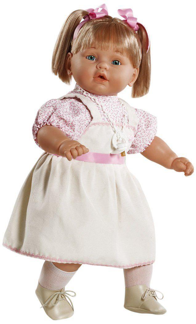 Amazon.es: Berbesa - Dulzona, muñeca bebé llorona con vestido blanco ...
