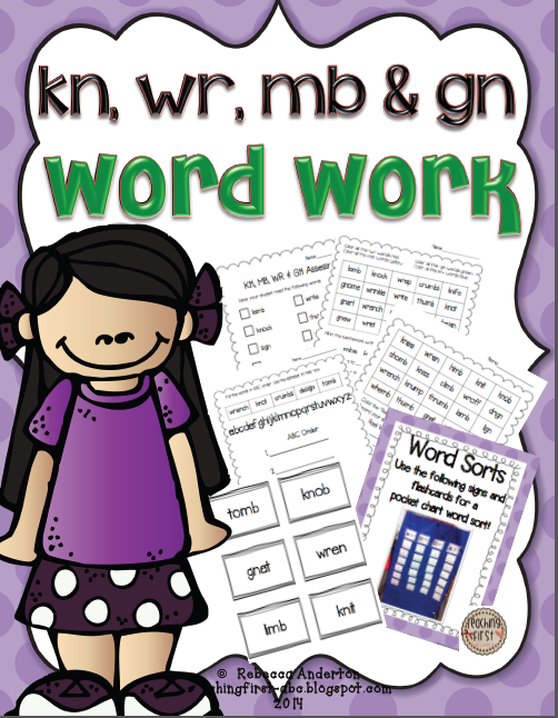 Digraph word work: kn, we mb, gn | Teaching. | Pinterest | Word work ...