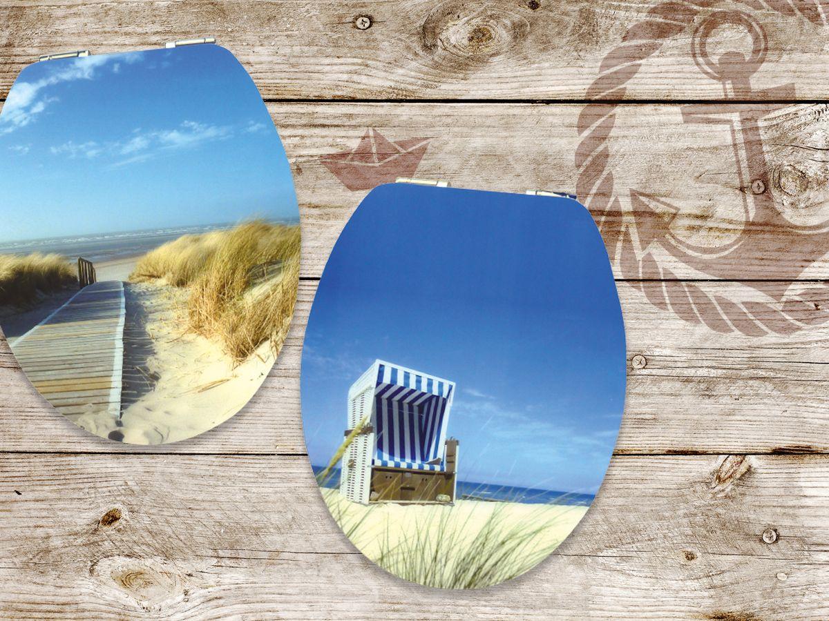 Strandkorb dünen  Strand-Feeling im Badezimmer #wc #toilet #nordsee #ostsee #motiv ...
