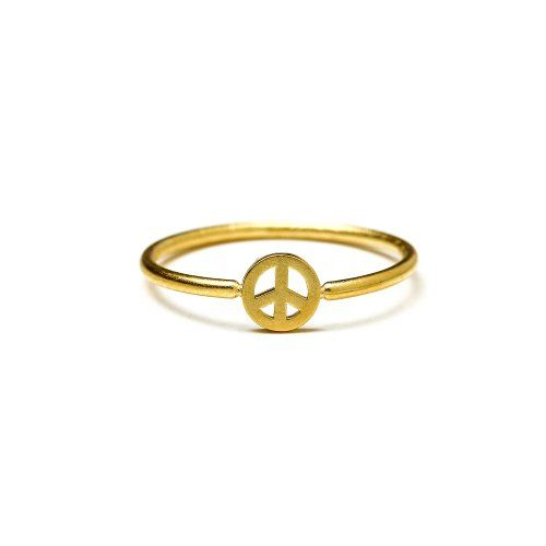 Dogeared Peace ring in gold $38.00