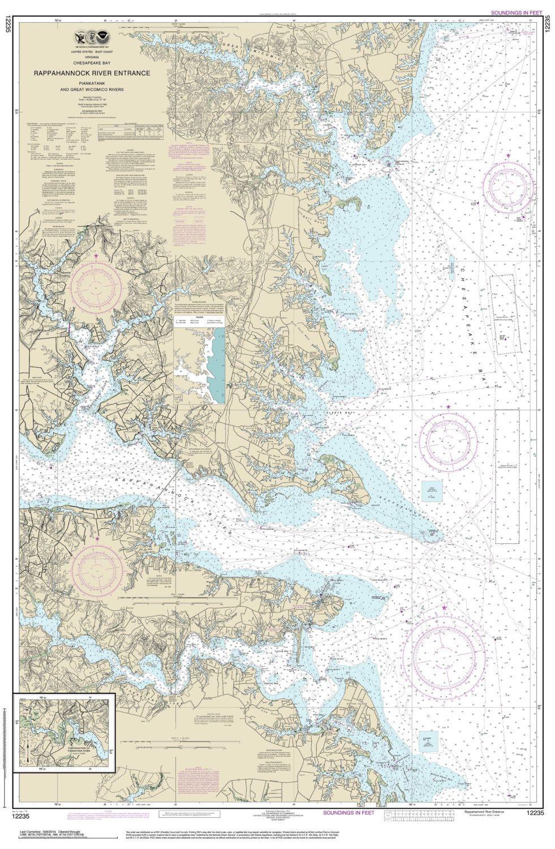 Rappahannock River Entrance Piankatank Great Wicomico River Etsy Nautical Chart Nautical Map Chesapeake Bay