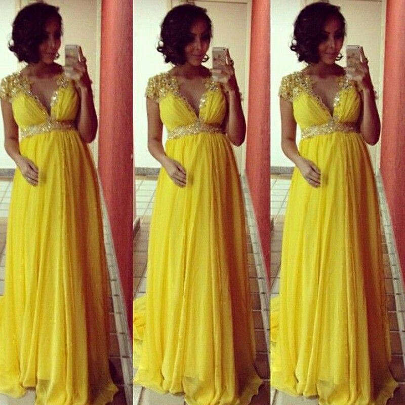 Yellow maternity gown | Cute maternity fashion | Pinterest ...