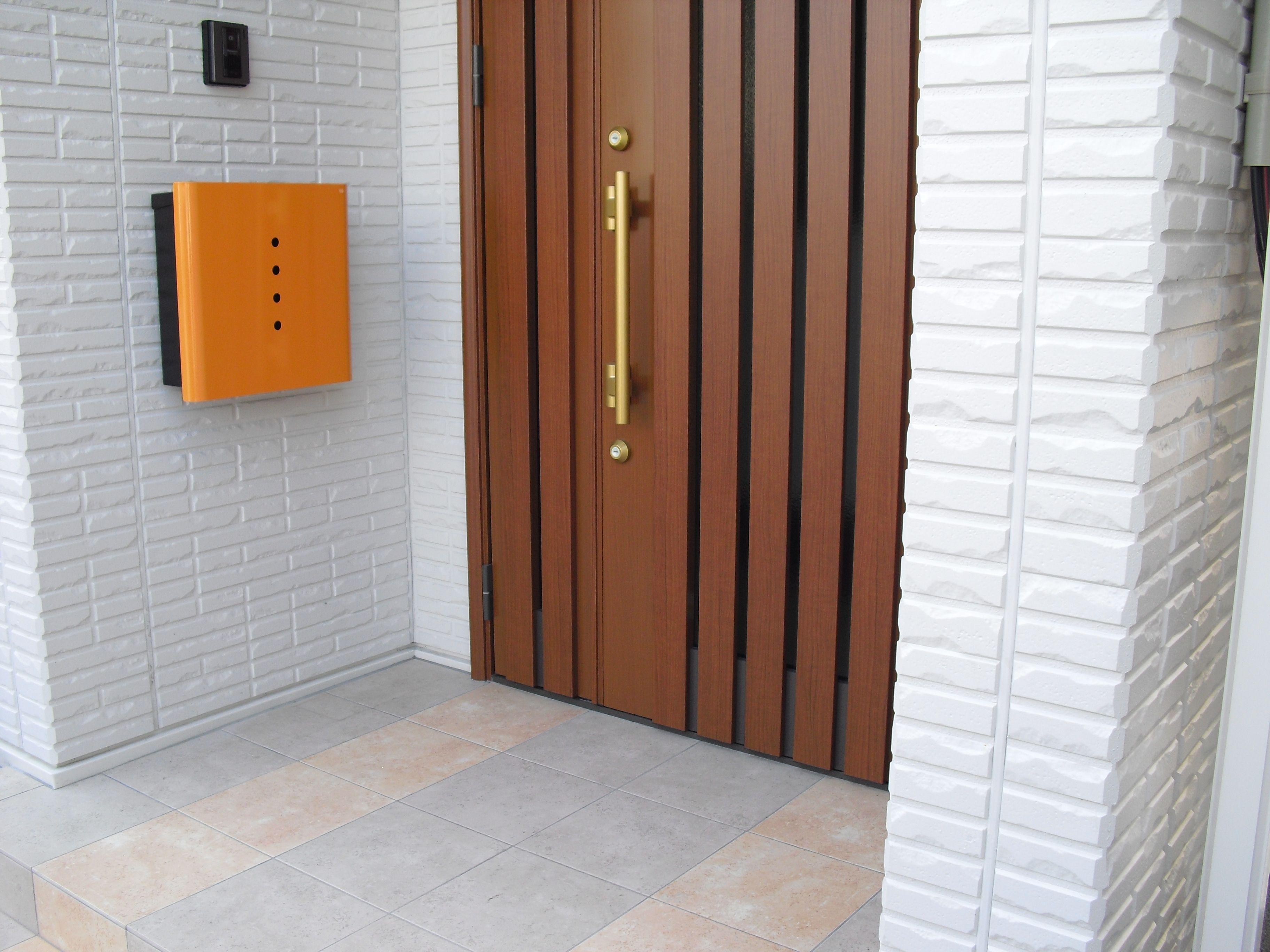 ヴァリオ ネオ アルファ 鍵なし オレンジ Na1 On01or 2020 玄関 リフォーム ポスト 郵便受け 玄関