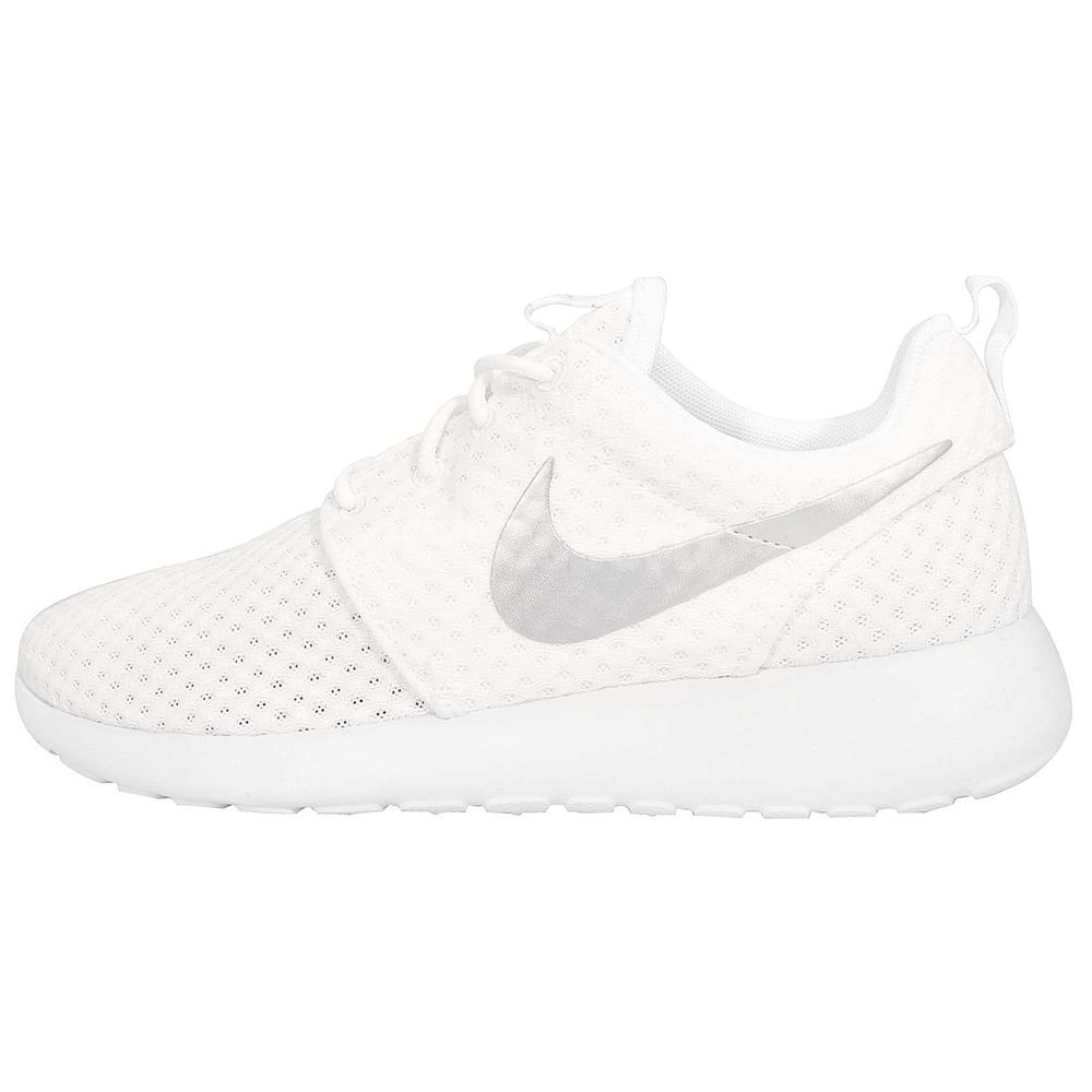 detailing best authentic new arrivals Wmns Nike Roshe Run One BR Breeze Rosherun White Silver Womens NSW ...
