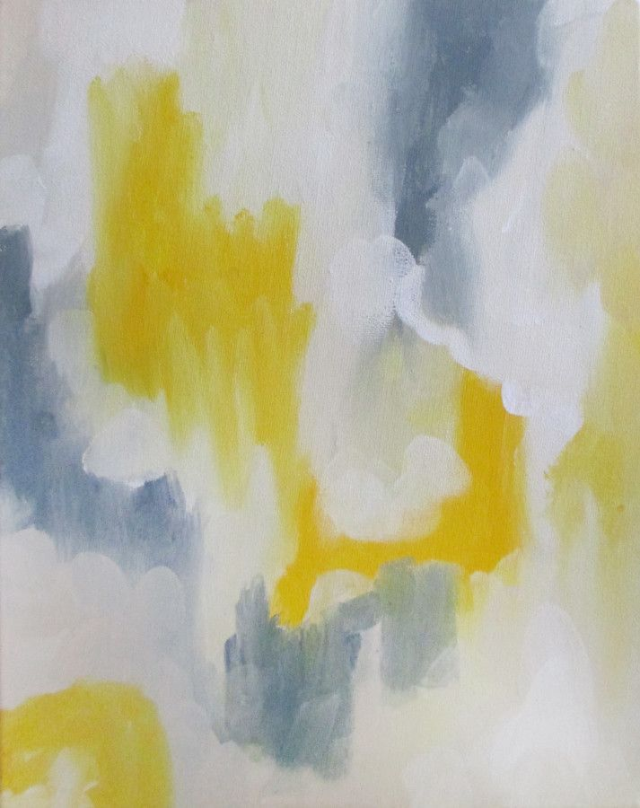 Yellow and Grey Abstract painting, Painting, Art prints