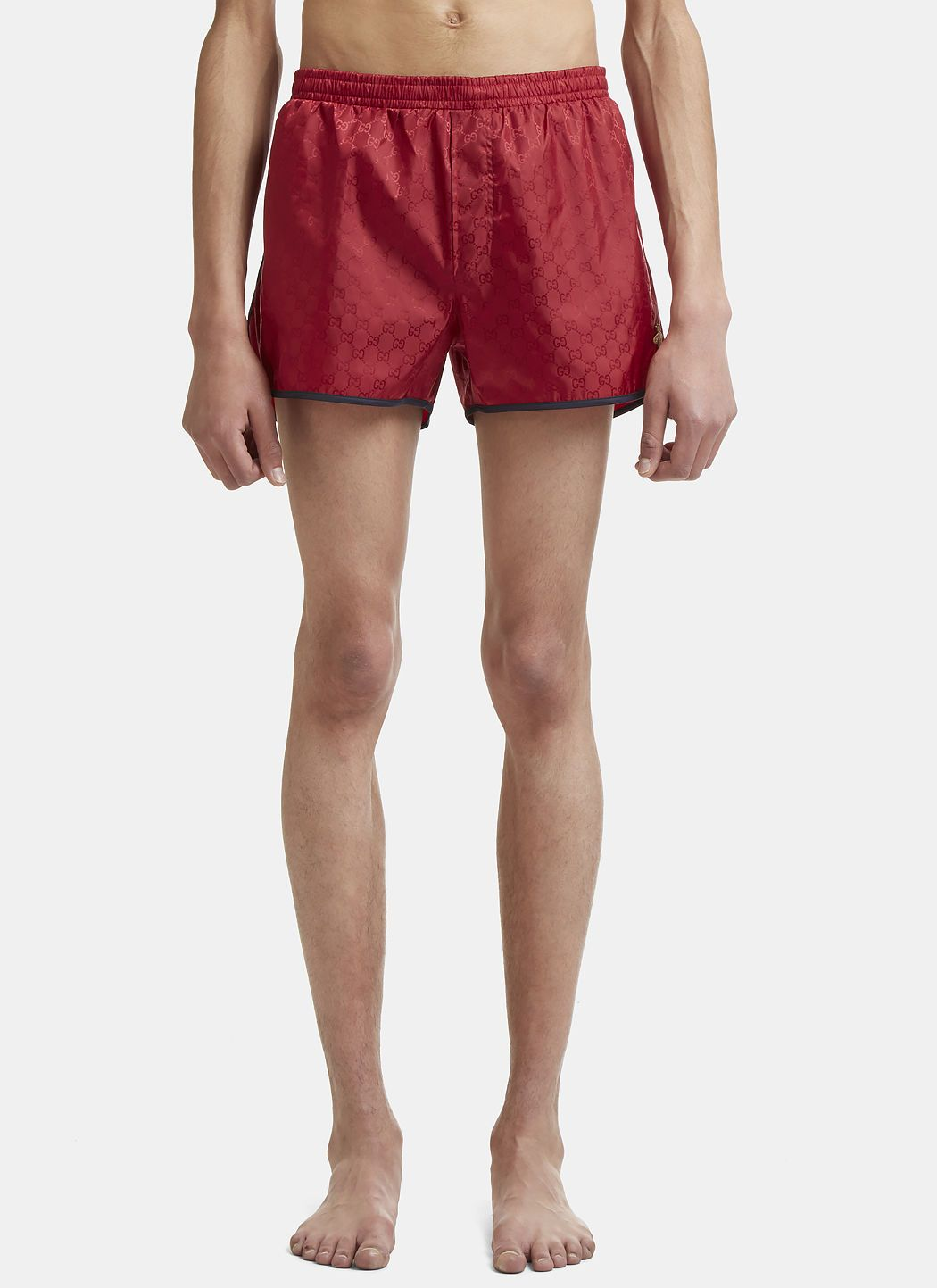 5607865758 GUCCI Bee Embroidered Swimming Shorts in Red. #gucci #cloth ...