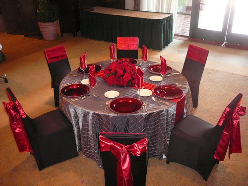 Charcoal and Red Table Decor by SBD EVENTS | Zebra print ...