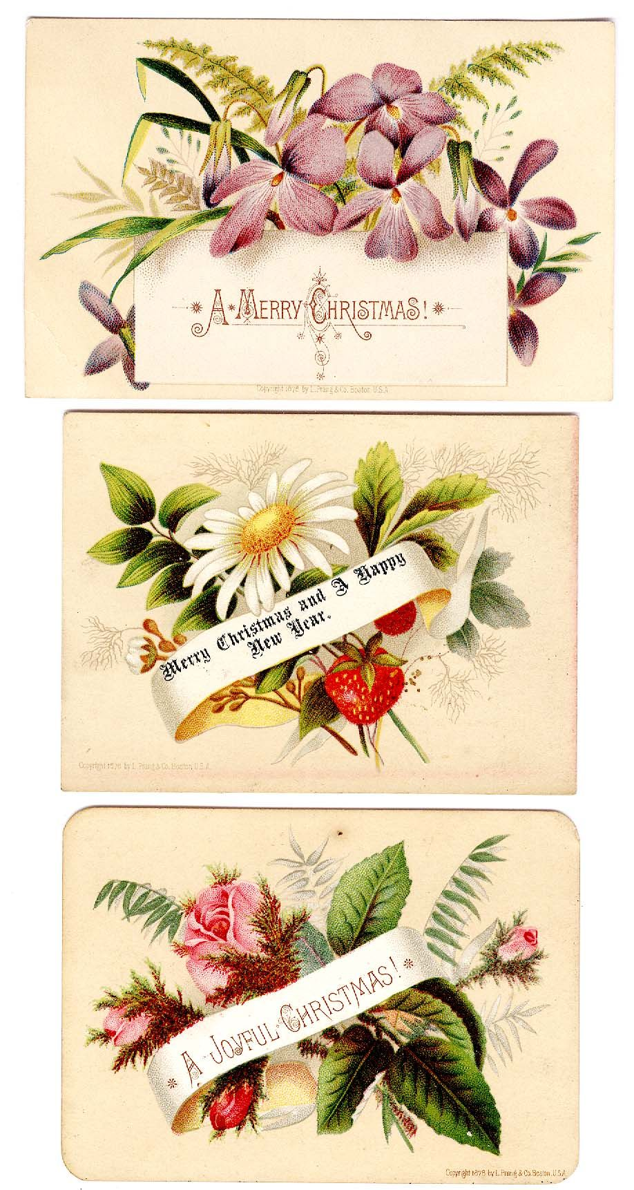 Victorian #Christmas #scrap #floral (greeting cards copyright 1878 ...