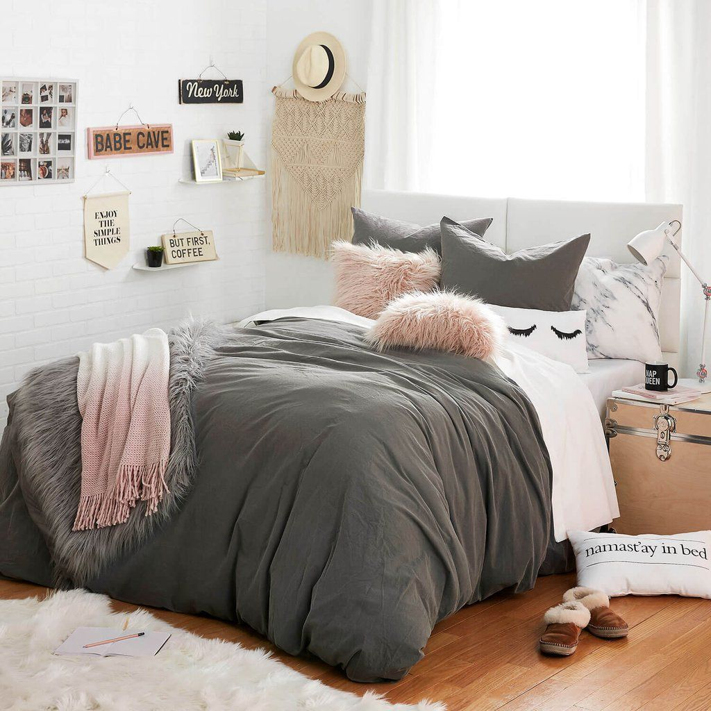 Soft wash duvet cover and sham set dormify dorm pinterest room bedroom and dorm room for College bedroom furniture sets