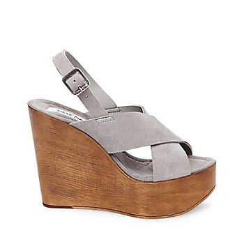 Slingback Strap Criss Cross Wooden Wedges from Steve Madden R699,95