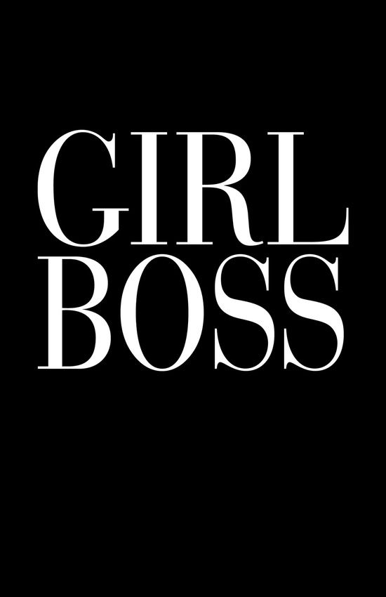 Girl Boss Black Vogue Typography Art Print by directgifts