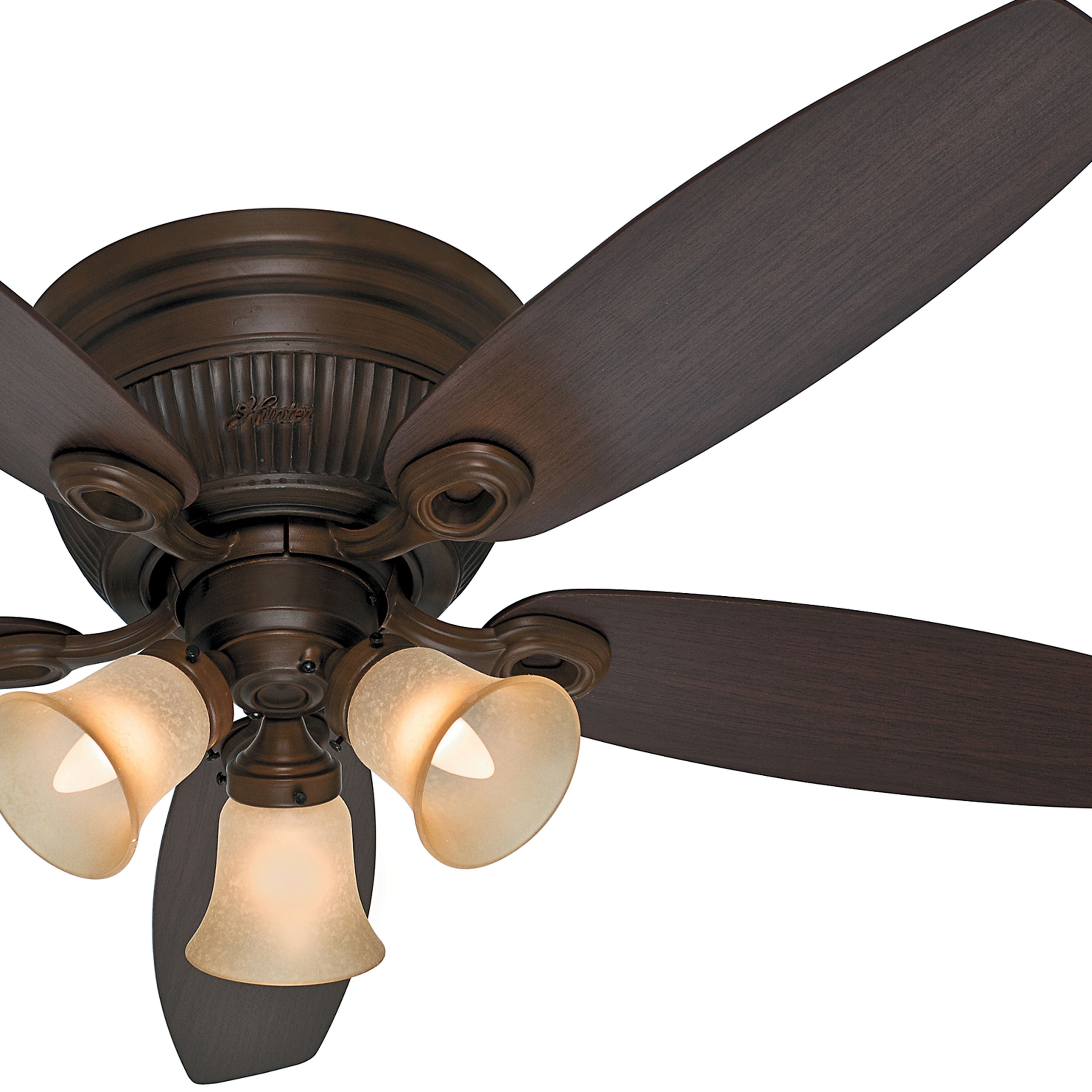 Hunter inch northern sienna finish ceiling fan with dust