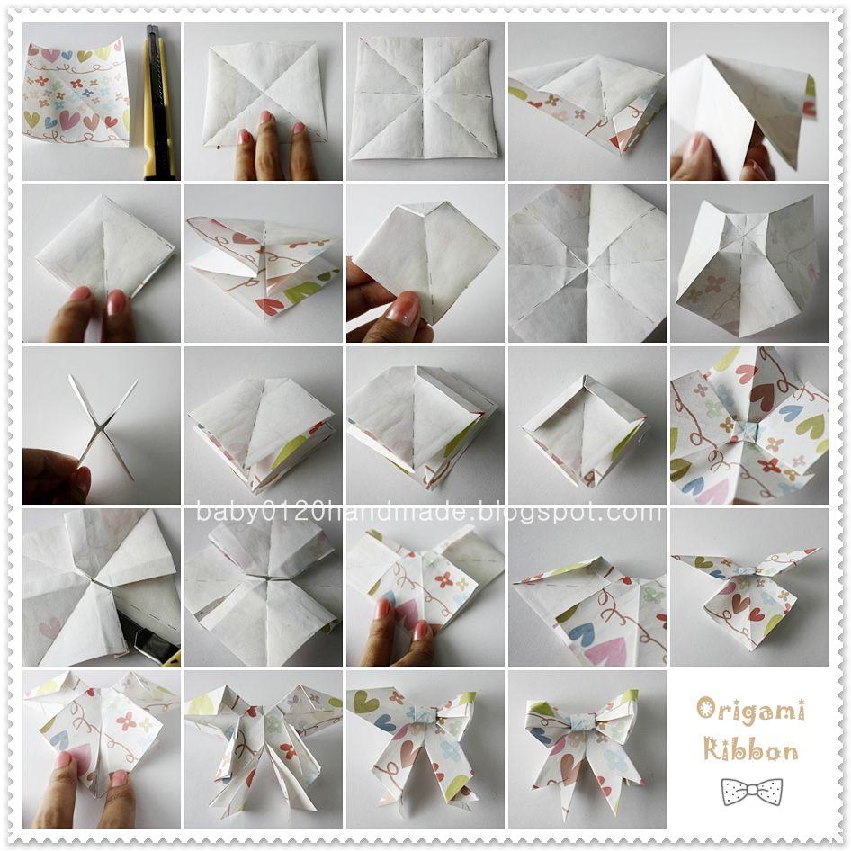 Handmade Tutorial Origami Ribbon Bow