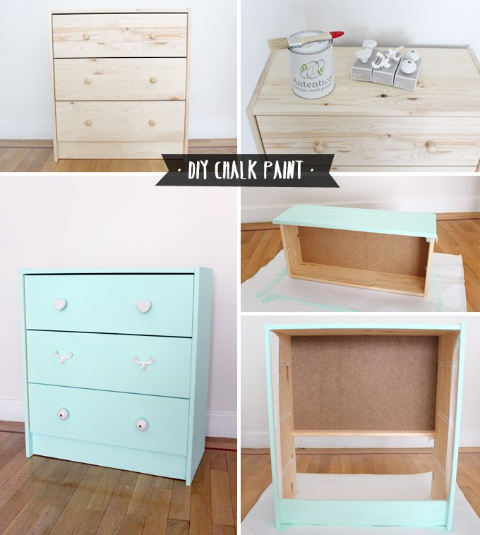 Diy chalk paint zapateras pintar y color for Envejecer mueble blanco ikea