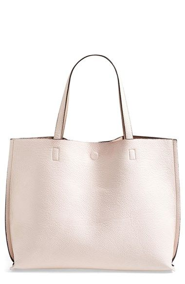 58a4bd4c63 Free shipping and returns on Street Level Reversible Vegan Leather Tote &  Wristlet at Nordstrom.com. Colored faux leather flips inside-out for a  reversible ...