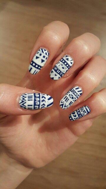 Blue &' white