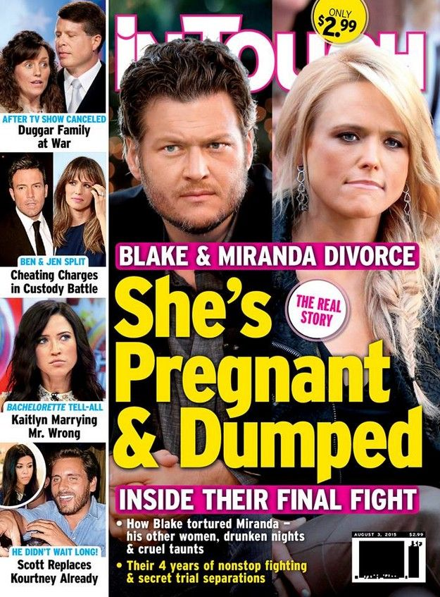 Blake Shelton And Miranda Lambert S Divorce Covers Us Weekly In Touch And People Magazine Miranda Lambert Divorce Miranda Lambert Blake Shelton Miranda