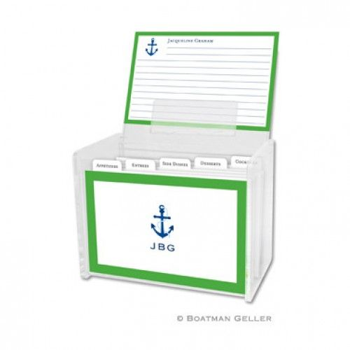 Loving this for anyone who loves to cook and loves relaxing on the water!!!!  Icon Anchor with Border - Recipe Box