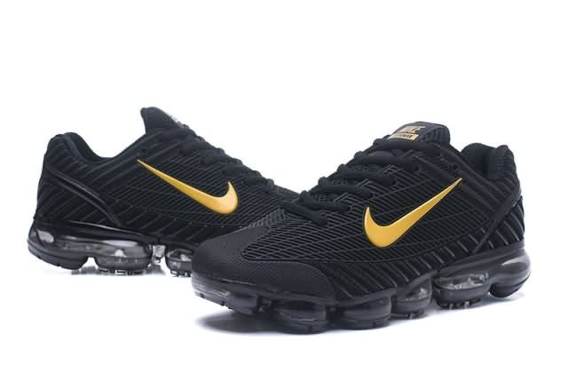 e8d4b485a50 Cheap Nike Air VaporMax 2018.6 KPU Men Black Gold shoes