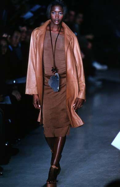 DONNA KARAN label by donna karan - Spring Summer 1997 New York Fashion Week - naomi campbell