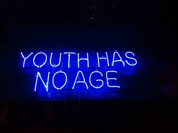 A E S T H E T I C B L U E With Images Neon Words Blue