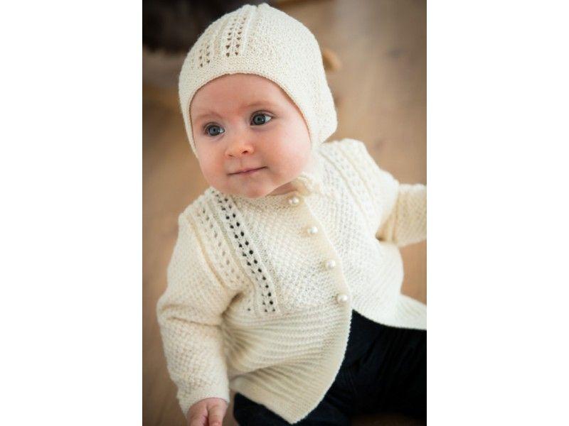 Mayflower Baby Sæt - Trøje og Kyse Strikkekit str. 3/6 mdr - 2 år