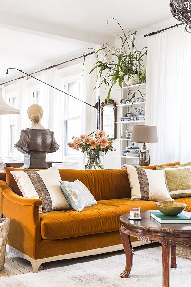 A Layered Soho Loft Retro Living Rooms Es Family Room Furniture Sitting