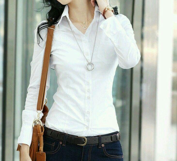 muy agradable rebajas(mk) oficial Blusa manga larga blanca   Clothes   Ganchillo vestidos ...