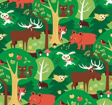 woodland forest illustration - ingela p arrhenius