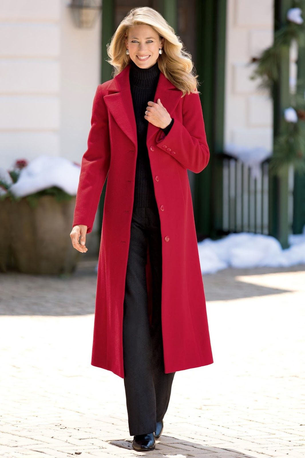 long red wool coats for women nation trendz | red color long wool ...