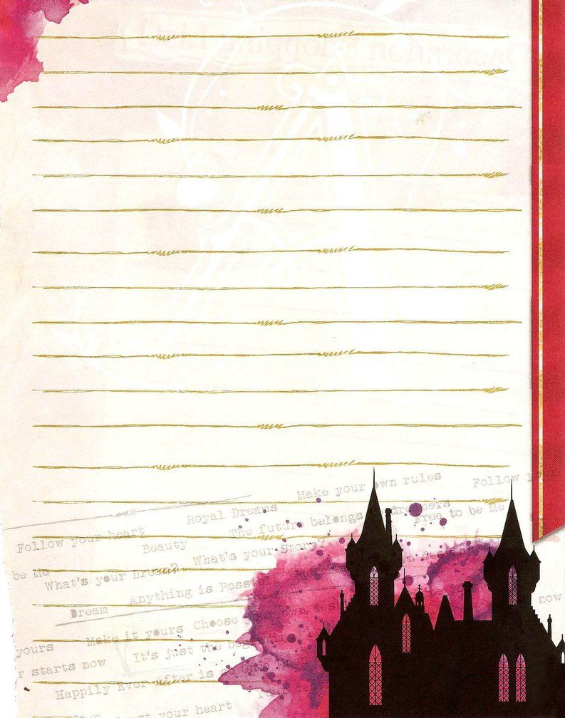 Ever after high school logo note page by obscurepairing on