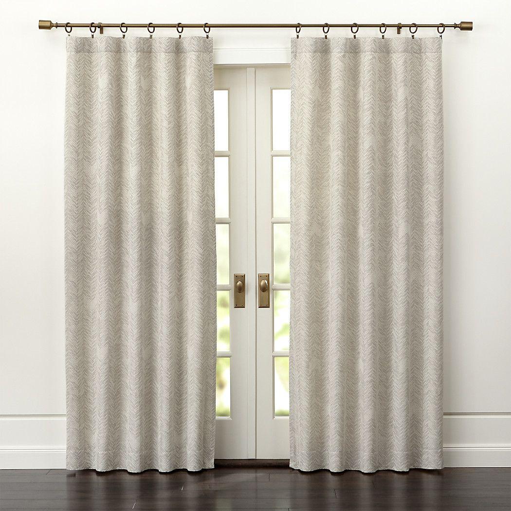 DoverCurtainPanels50x84SHS17 Taupe curtains, Cream