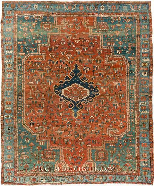 Early Antique Serapi Rug Size 12 4 X 14 4 Serapi Rug Antique Persian Rug Persian Rug